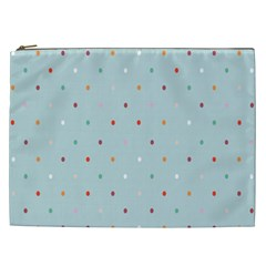 Polka Dot Flooring Blue Orange Blur Spot Cosmetic Bag (xxl)  by Mariart