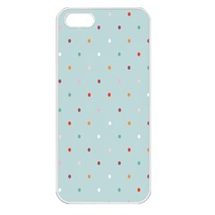 Polka Dot Flooring Blue Orange Blur Spot Apple Iphone 5 Seamless Case (white) by Mariart