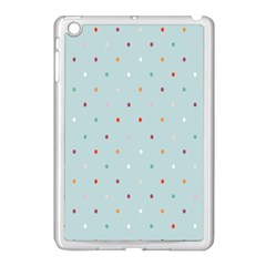 Polka Dot Flooring Blue Orange Blur Spot Apple Ipad Mini Case (white) by Mariart