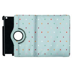 Polka Dot Flooring Blue Orange Blur Spot Apple Ipad 2 Flip 360 Case by Mariart
