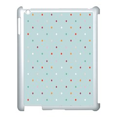Polka Dot Flooring Blue Orange Blur Spot Apple Ipad 3/4 Case (white) by Mariart