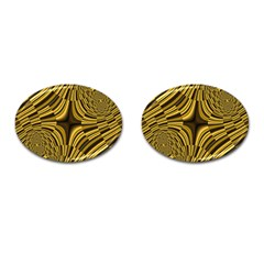Fractal Golden River Cufflinks (oval) by Simbadda