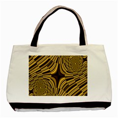 Fractal Golden River Basic Tote Bag (two Sides) by Simbadda