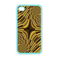 Fractal Golden River Apple Iphone 4 Case (color) by Simbadda