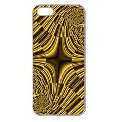 Fractal Golden River Apple Seamless Iphone 5 Case (clear) by Simbadda