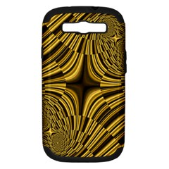 Fractal Golden River Samsung Galaxy S Iii Hardshell Case (pc+silicone) by Simbadda