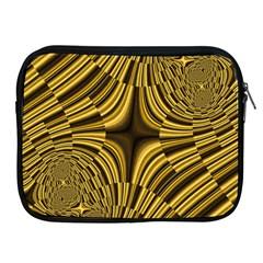 Fractal Golden River Apple Ipad 2/3/4 Zipper Cases by Simbadda