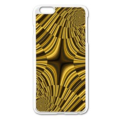 Fractal Golden River Apple Iphone 6 Plus/6s Plus Enamel White Case