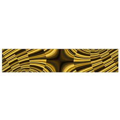 Fractal Golden River Flano Scarf (small) by Simbadda