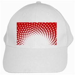 Polka Dot Circle Hole Red White White Cap by Mariart