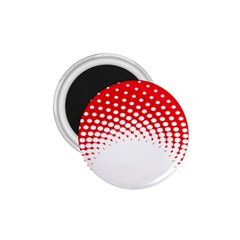 Polka Dot Circle Hole Red White 1 75  Magnets by Mariart
