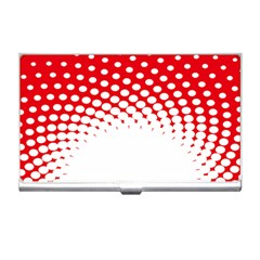 Polka Dot Circle Hole Red White Business Card Holders by Mariart