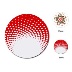 Polka Dot Circle Hole Red White Playing Cards (round)  by Mariart