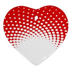Polka Dot Circle Hole Red White Heart Ornament (two Sides) by Mariart