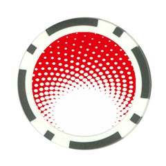 Polka Dot Circle Hole Red White Poker Chip Card Guard by Mariart
