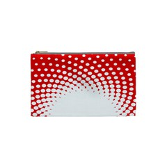 Polka Dot Circle Hole Red White Cosmetic Bag (small)  by Mariart