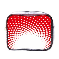 Polka Dot Circle Hole Red White Mini Toiletries Bags by Mariart