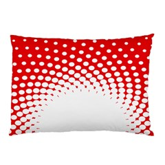 Polka Dot Circle Hole Red White Pillow Case (two Sides) by Mariart