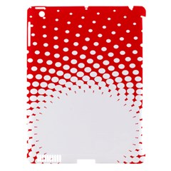 Polka Dot Circle Hole Red White Apple Ipad 3/4 Hardshell Case (compatible With Smart Cover) by Mariart
