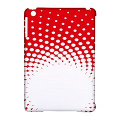 Polka Dot Circle Hole Red White Apple Ipad Mini Hardshell Case (compatible With Smart Cover) by Mariart