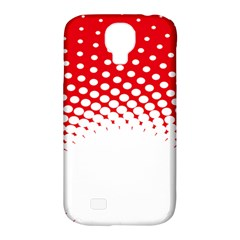 Polka Dot Circle Hole Red White Samsung Galaxy S4 Classic Hardshell Case (pc+silicone) by Mariart