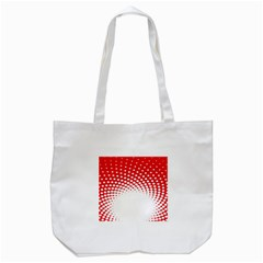 Polka Dot Circle Hole Red White Tote Bag (white) by Mariart