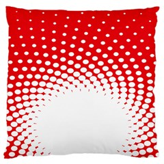 Polka Dot Circle Hole Red White Standard Flano Cushion Case (two Sides) by Mariart