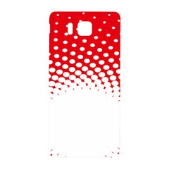 Polka Dot Circle Hole Red White Samsung Galaxy Alpha Hardshell Back Case by Mariart