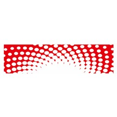Polka Dot Circle Hole Red White Satin Scarf (oblong) by Mariart