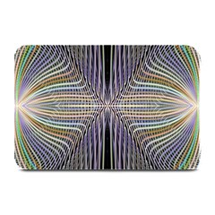 Color Fractal Symmetric Wave Lines Plate Mats by Simbadda