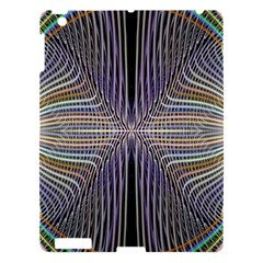 Color Fractal Symmetric Wave Lines Apple Ipad 3/4 Hardshell Case by Simbadda
