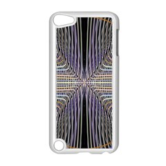 Color Fractal Symmetric Wave Lines Apple Ipod Touch 5 Case (white) by Simbadda