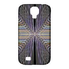 Color Fractal Symmetric Wave Lines Samsung Galaxy S4 Classic Hardshell Case (pc+silicone)