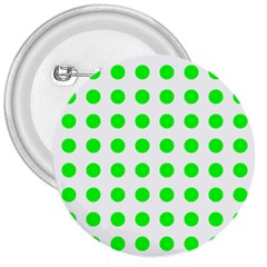 Polka Dot Green 3  Buttons by Mariart