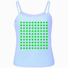 Polka Dot Green Baby Blue Spaghetti Tank by Mariart