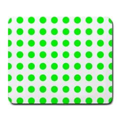 Polka Dot Green Large Mousepads by Mariart