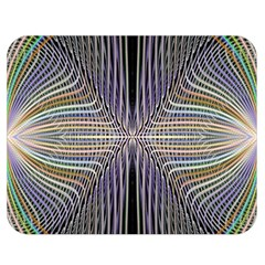 Color Fractal Symmetric Wave Lines Double Sided Flano Blanket (medium)  by Simbadda