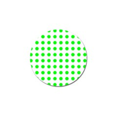 Polka Dot Green Golf Ball Marker (10 Pack) by Mariart
