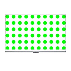 Polka Dot Green Business Card Holders by Mariart
