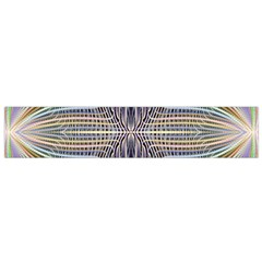 Color Fractal Symmetric Wave Lines Flano Scarf (small)