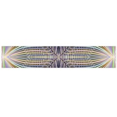 Color Fractal Symmetric Wave Lines Flano Scarf (large) by Simbadda
