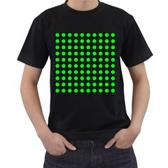 Polka Dot Green Men s T Shirt (black) (two Sided) by Mariart