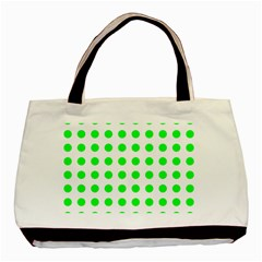 Polka Dot Green Basic Tote Bag by Mariart