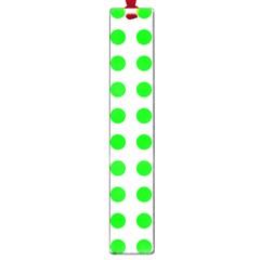 Polka Dot Green Large Book Marks by Mariart