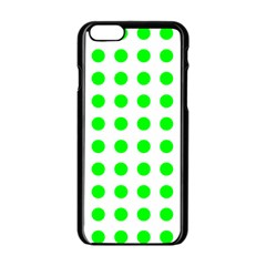 Polka Dot Green Apple Iphone 6/6s Black Enamel Case by Mariart