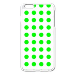 Polka Dot Green Apple Iphone 6 Plus/6s Plus Enamel White Case by Mariart
