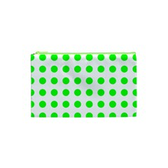 Polka Dot Green Cosmetic Bag (xs) by Mariart