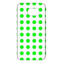 Polka Dot Green Galaxy S6 by Mariart