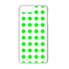 Polka Dot Green Apple Iphone 7 Plus White Seamless Case by Mariart