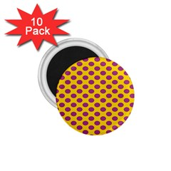 Polka Dot Purple Yellow Orange 1 75  Magnets (10 Pack)  by Mariart